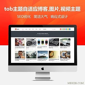 tob主题最新原版,自适应博客,图片,视频主题