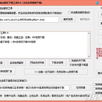 网页视频真实地址解析下载工具(网页视频解析器)V5.0