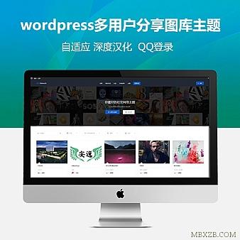 NRGnetwork多用户分享图库WP主题深度中文汉+集成QQ登录+整站带数据