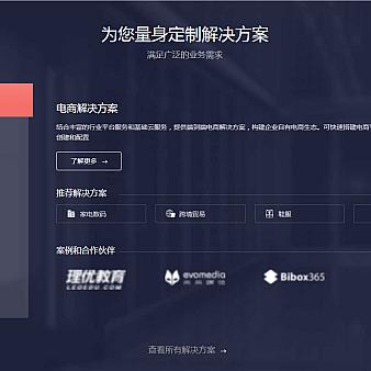 jquery大气企业解决方案选项卡布局代码