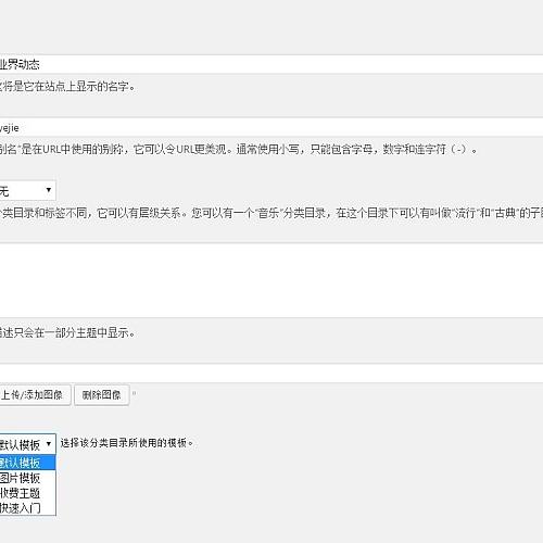 wordpress给分类目录添加缩略图+模板选择功能(2)