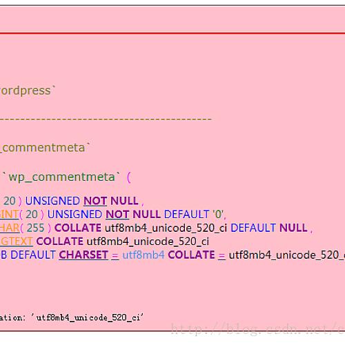 wordpress导入数据错误MySQL返回:#1273 – Unknown collation: 'utf8mb4_unicode_520_ci'