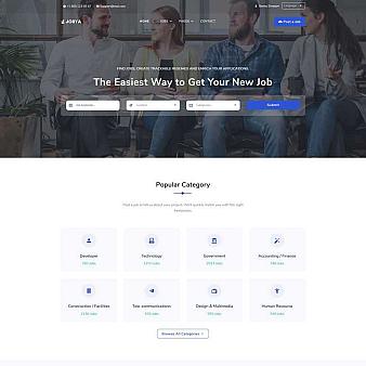 html5工作招聘平台网页模板