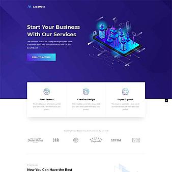 商业服务器专题设计HTML5模板