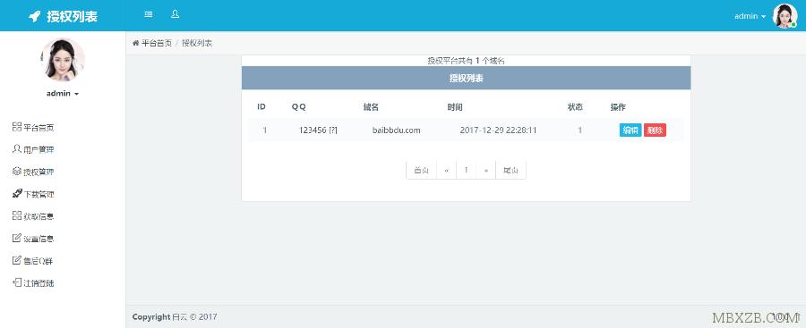 最新PHP网站授权程序源码+反盗版追踪_功能简单易用