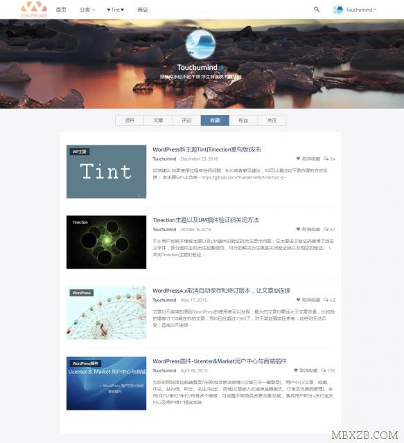 WordPress主题Tint主题二次开发版+商城+会员+积分+投稿[更新至2.5.0]