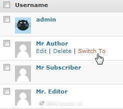 WordPress后台一键切换为其他用户身份登录——插件篇