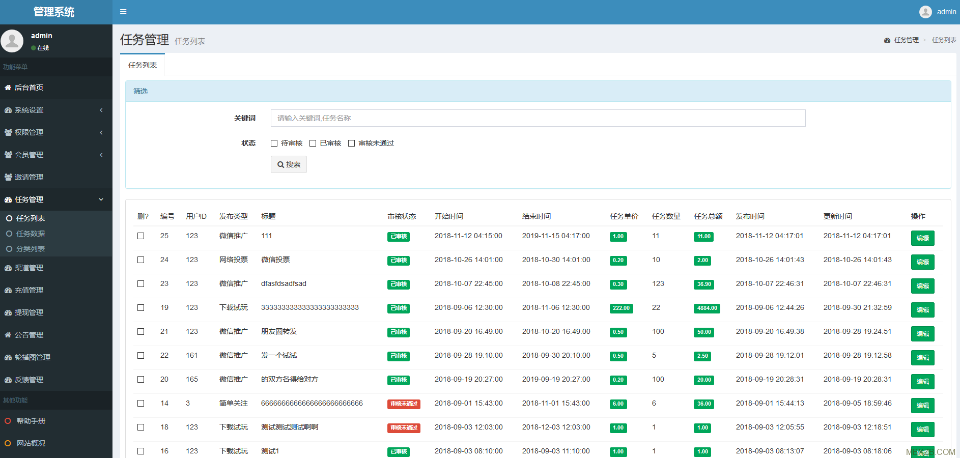 Thinkphp5新威客任务平台源码,做任务赚佣金任务平台(修复BUG)